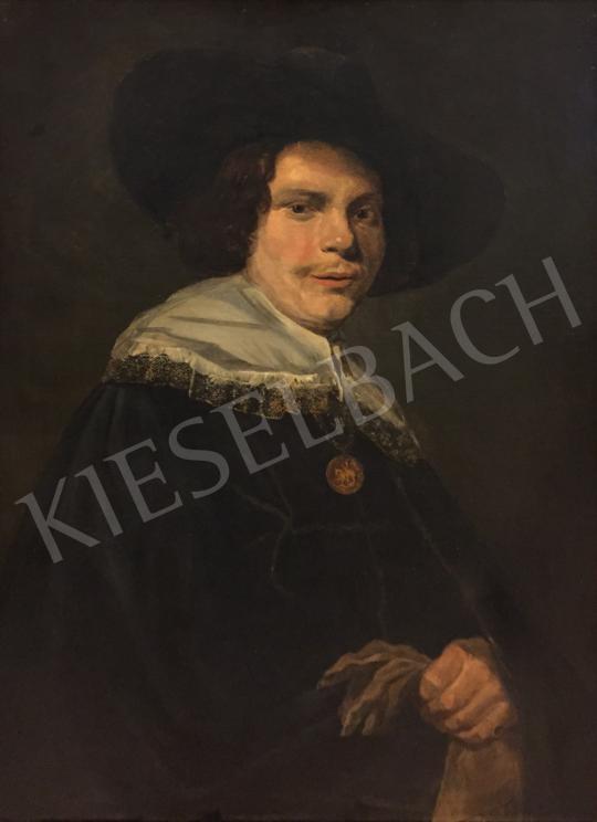 Eladó  Ismeretlen 19. századi festő Frans Hals után - Férfi kalapban festménye