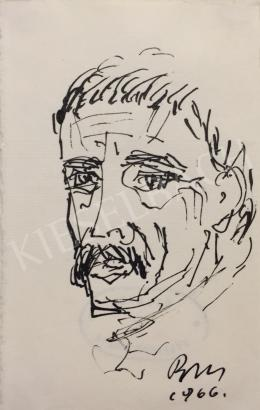 Borsos, Miklós - Self-Portrait, 1966