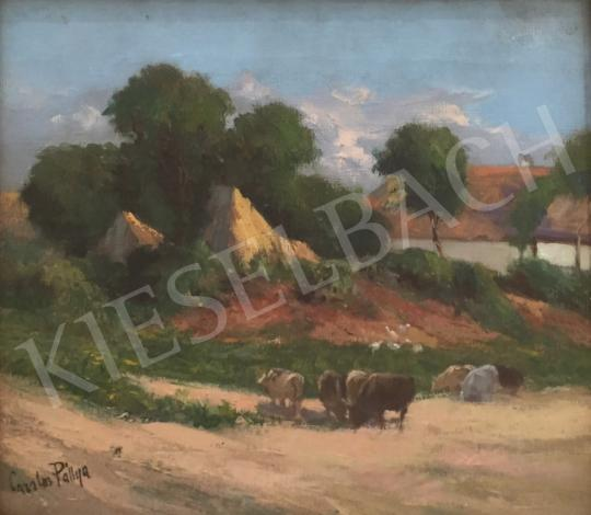 For sale  Pállya, Carolus - Village Atmosphere (Sheeps by the Roadside) 's painting