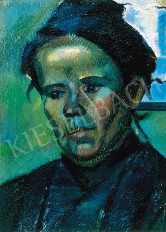 Eladó  Kmetty János - Kubista fej, 1910-es évek eleje festménye