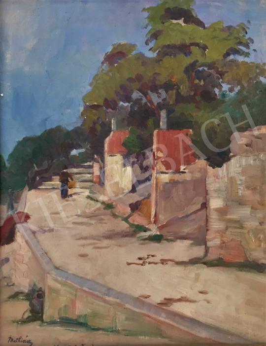Eladó Mathiász Oszkár - Sétány a Dalmát tengerparton festménye
