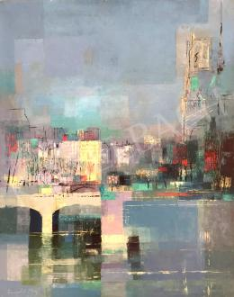Ney László - A párizsi Szajna-part a Notre Dame-mal, 1956