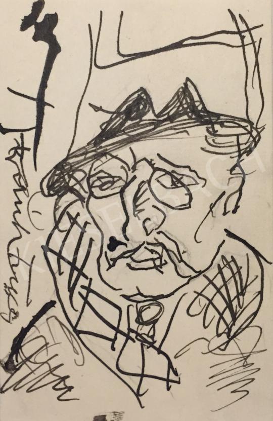 Eladó  Frank Frigyes - Önarckép festménye