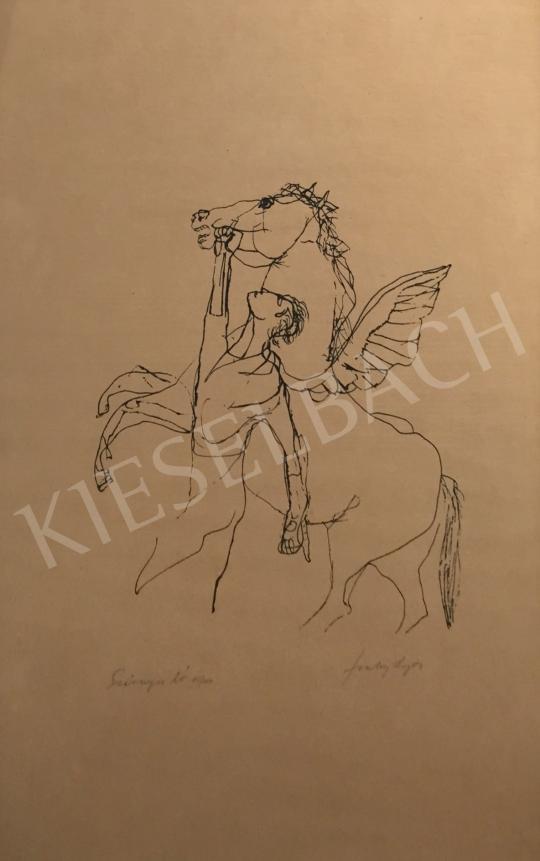 Eladó Szalay Lajos - Ihlet (Szárnyas ló) festménye