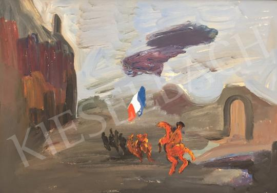 For sale Kovásznai, György - Song of the French Revolution / Battle Scenes, 1973 's painting