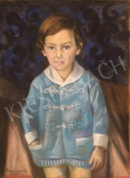 Schönberger, Armand - Little Boy in Light Blue House Coat, 1924
