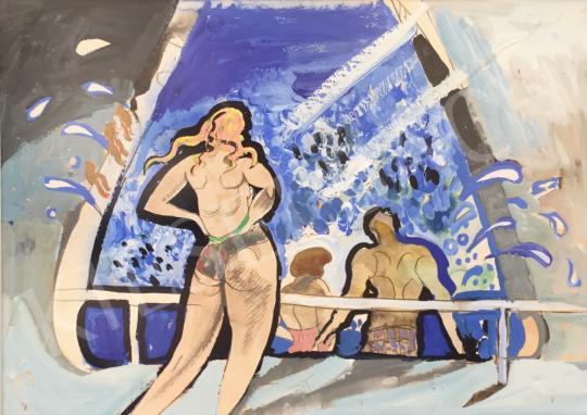 Eladó Kovásznai György - Habfürdő festménye