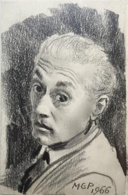 Molnár C. Pál - Önarckép, 1966