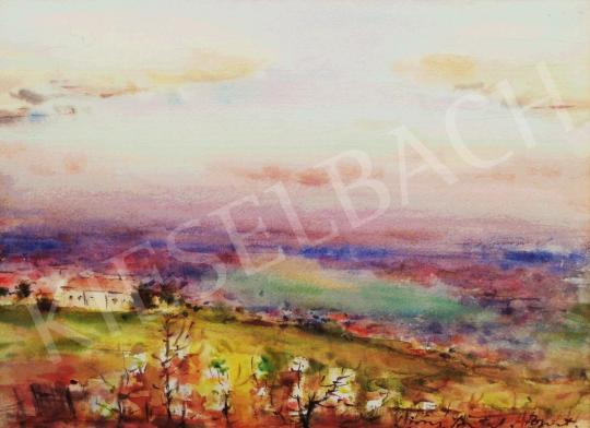 Eladó Diósy Antal - Tavasz a Rózsadombon festménye