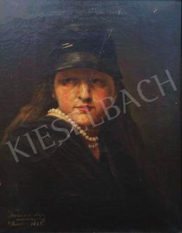 Kubányi Lajos - Festőnő, 1882
