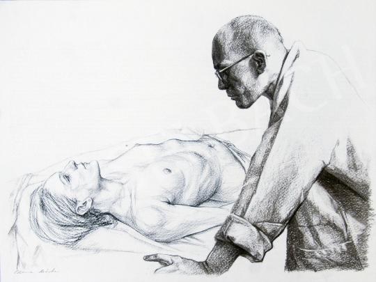 Eladó  Czene Márta - Cím nélkül (Elemzés), 2012 festménye