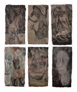 Király Gábor - 285. 292. 280. 281. 291. 284., 2018- A művek egyenkénti ára: 300 000 Ft, a 6 freskó együttes eladás