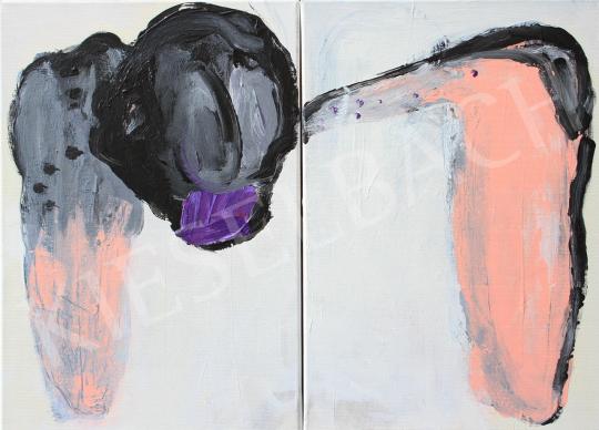 Eladó  Részegh Botond - Cím nélkül ( Diptichon) II., 2018 festménye