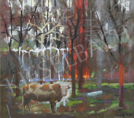 Bukta Imre - Az utolsó tehén, 2020 festménye