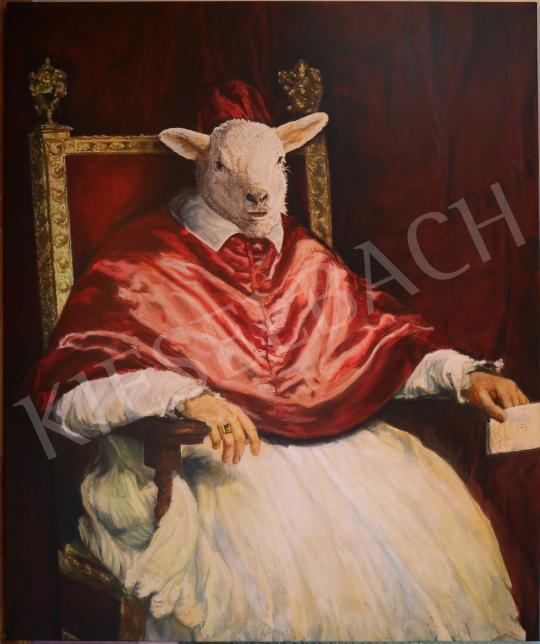 drMáriás - A Mennyei Bárány földi helytartója Velasquez műtermében, 2020 festménye