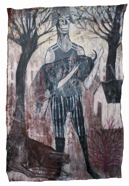 Király Gábor - Vidéki táj, 2020 festménye