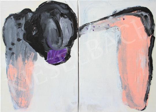Részegh Botond - Cím nélkül ( Diptichon) II., 2018 festménye
