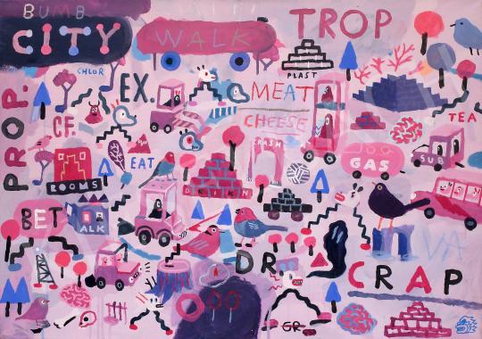 Stark Attila - Trop, 2020 festménye