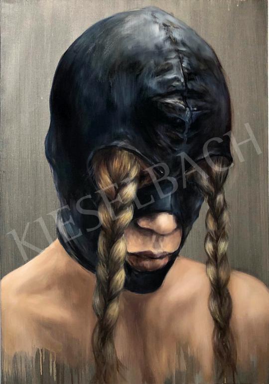 Verebics Ágnes - Fonott-szemű, 2020 festménye