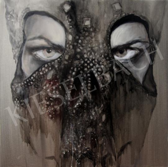 Verebics Ágnes - Koponya maszk, 2020 festménye