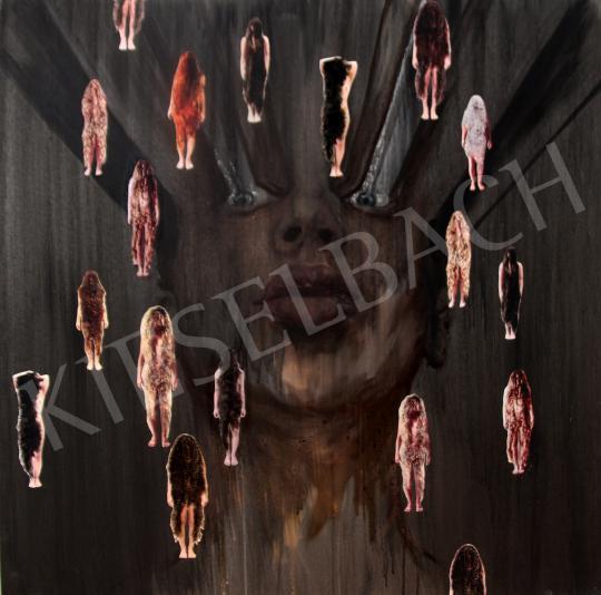 Verebics Ágnes - Lázálom szőrösnőkkel, 2020 festménye