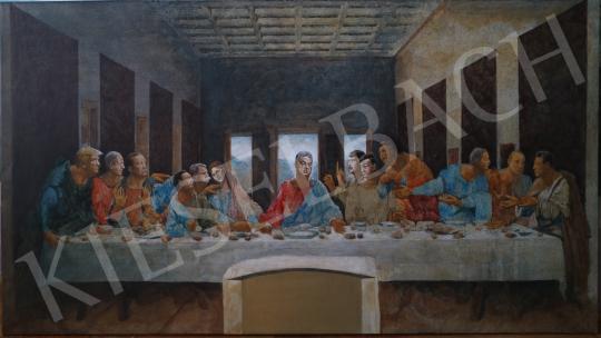 drMáriás - Az utolsó vacsora a járvány előtt Leonardo műtermében, 2020 festménye