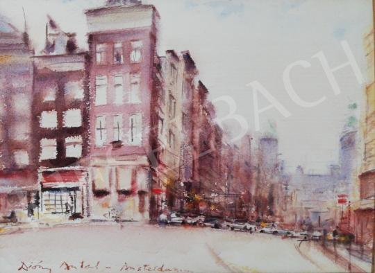 Eladó Diósy Antal - Utcasarok Amszterdamban festménye