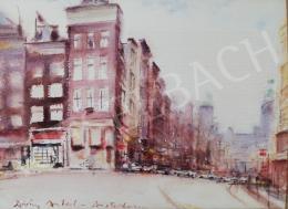 Diósy, Antal (Dióssy Antal) - Street Corner in Amsterdam