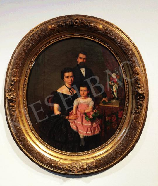 For sale  Canzi, Ágost - Family Portrait, 1857 's painting