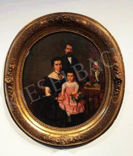 Canzi Ágost - Családi portré, 1857