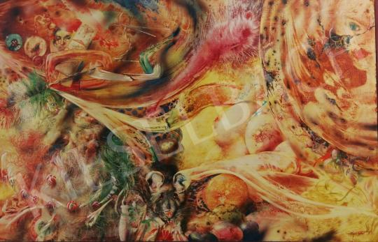 Eladó  Korga György - A hajléktalan álma, 1995 festménye
