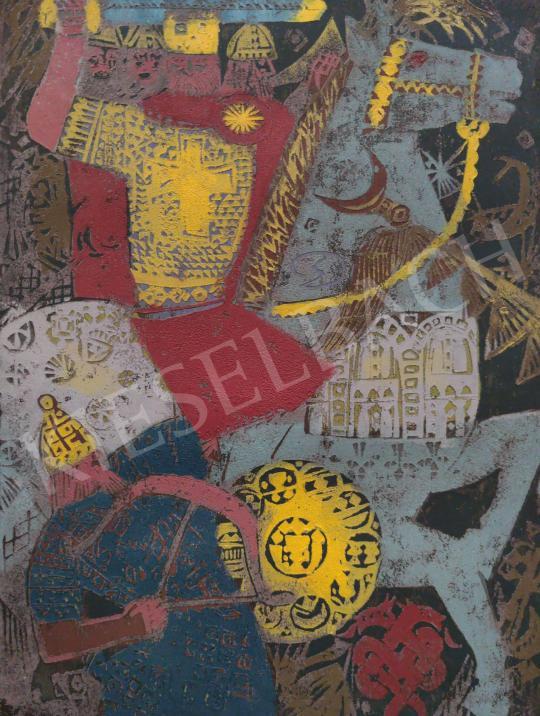 Eladó Domján József - Charles Martel festménye