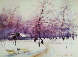 Diósy, Antal (Dióssy Antal) - Winter Park Scene (Dusk Lights)