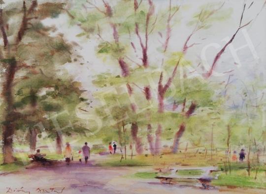 Eladó Diósy Antal - Tavasz a parkban (Margitsziget) festménye
