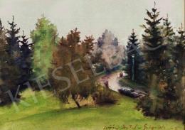 Diósy Antal - Galyatető zöldellő látképe, 1963