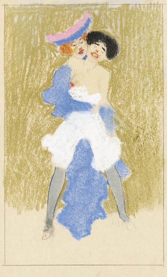 Eladó Tichy Gyula - Ölelés (Barátnők), 1910 körül festménye