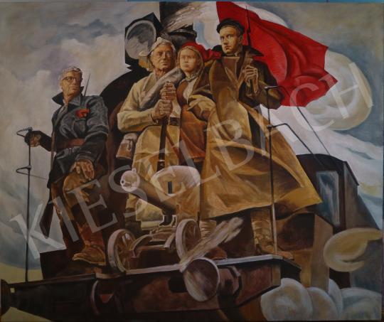 drMáriás - A diplomás kommunisták 1/1, 2020 festménye