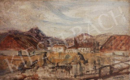Mednyánszky László - Színvázlat festménye