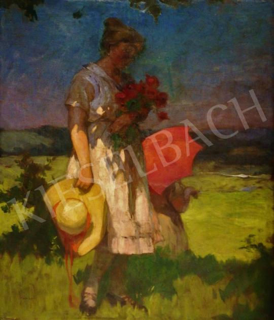 For sale  Jámbor, Lajos - In Sunny Field (A Bouquet of Wildflowers) 's painting