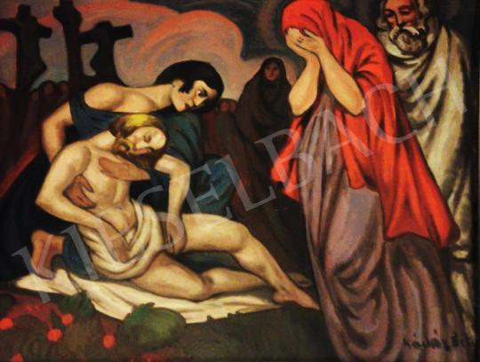 Kádár Béla - Feltámadás előtt festménye