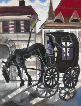 Scheiber Hugó - Város gázlámpával, konflissal, 1930