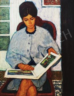 Czene, Béla jr. - Reading Woman with Book
