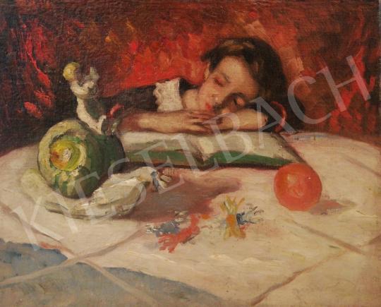 Eladó  Kássa Gábor - Délutáni lecke, 1935 körül festménye