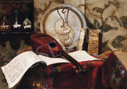 Eladó  Rojka, Fritz - Műtermi csendélet mandolinnal festménye