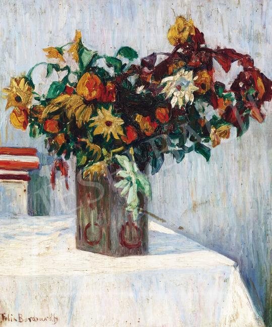 Eladó Borchardt, Felix - Virágcsendélet festménye