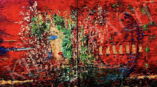 Eladó  Náray Tamás - Sába királynője diptichon festménye