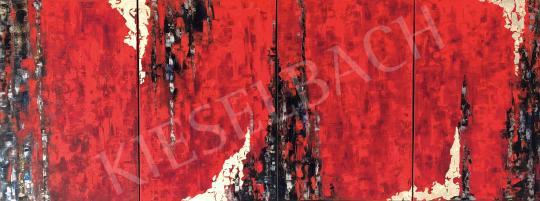 Eladó  Náray Tamás - Akkádok földjén - quadrichon festménye