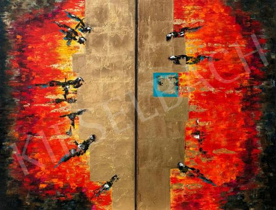 Eladó  Náray Tamás - Samas - Napisten - diptichon festménye