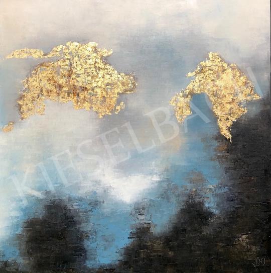 Eladó  Náray Tamás - Ég és föld háza festménye
