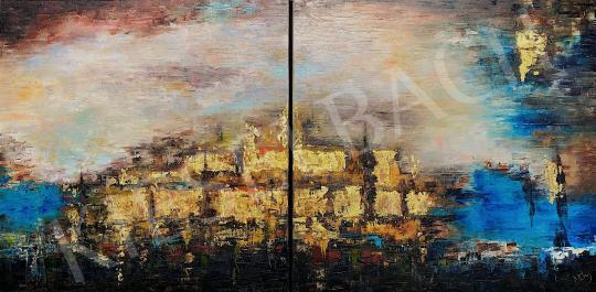 Eladó  Náray Tamás - Larsza romjai - diptichon festménye